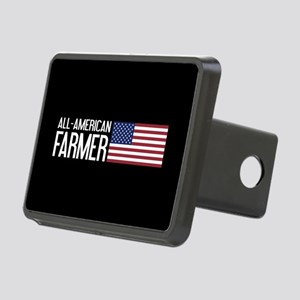 Farmer: All-American (Blac Rectangular Hitch Cover