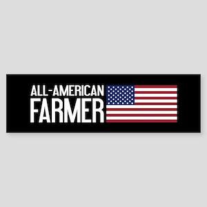 Farmer: All-American (Black) Sticker (Bumper)