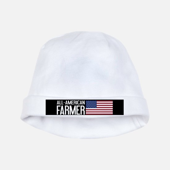 Farmer: All-American (Black) baby hat