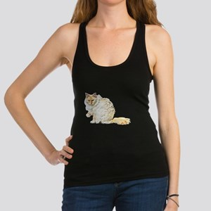 Bad kitty flipping the bird Racerback Tank Top