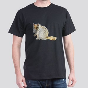 Bad kitty flipping the bird Dark T-Shirt