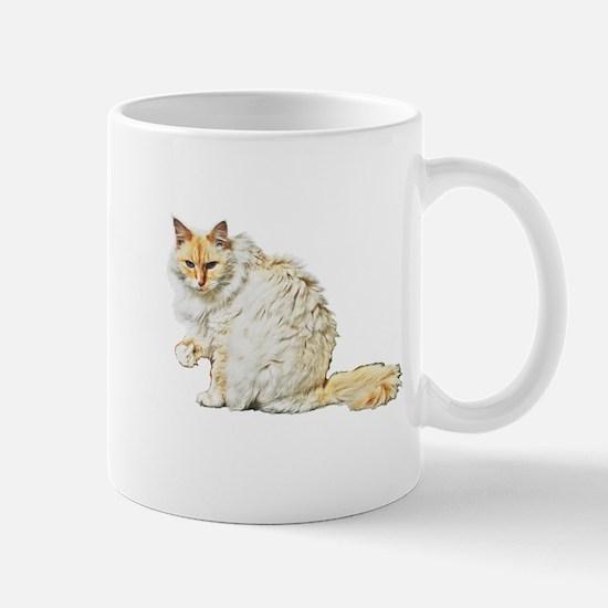 Bad kitty flipping the bird Mug