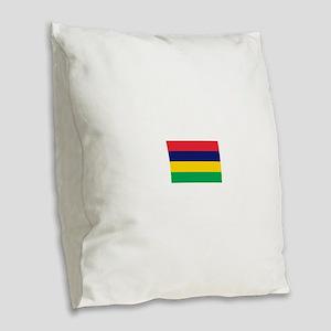 Mauritius Burlap Throw Pillow