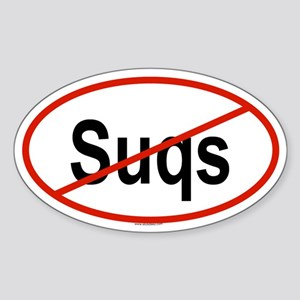 SUQS Oval Sticker