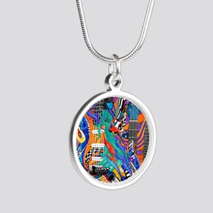 Rock Band Electric Guitar Pop Art Colorf Necklaces
