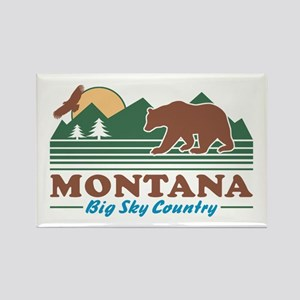 Montana Big Sky Country Rectangle Magnet