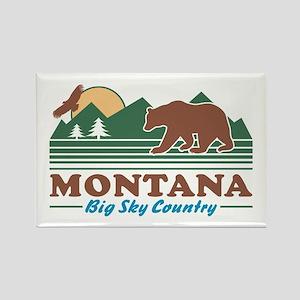 Montana Big Sky Country Rectangle Magnet