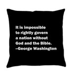 George Washington Quote Everyday Pillow