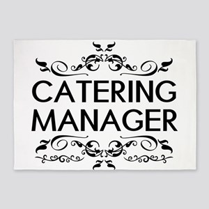 Catering: Catering Manager (Black) 5'x7'Area Rug