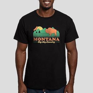 Montana Big Sky Countr Men's Fitted T-Shirt (dark)