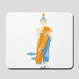 Standing Buddha (White) Mousepad
