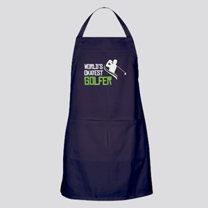 World Okayest Golfer T Shirt Apron (dark)