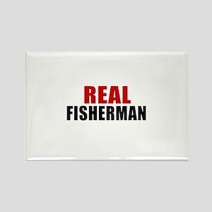Real Fisherman Rectangle Magnet