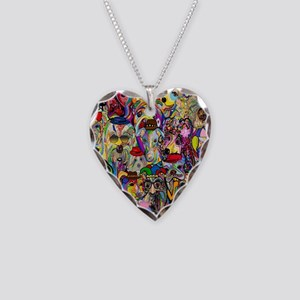Dogs Dogs Dogs 2 Doggy Dress Necklace Heart Charm