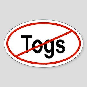 TOGS Oval Sticker