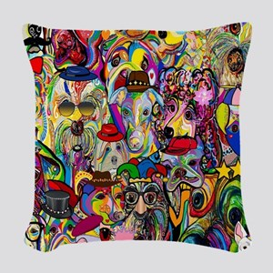 Dogs Dogs Dogs 2 Doggy Dress U Woven Throw Pillow