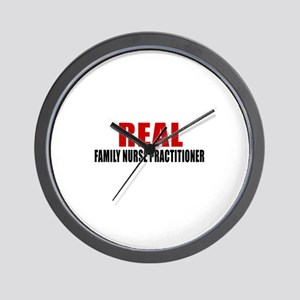 Real Family Nurse Practitioner Wall Clock