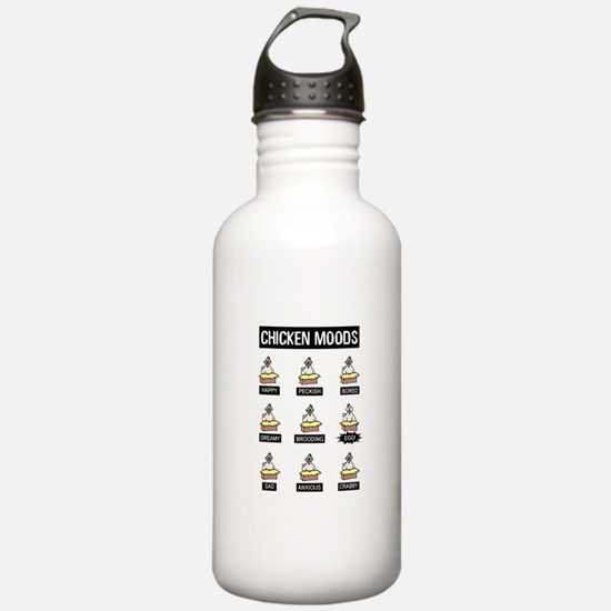Chicken Moods Water Bottle