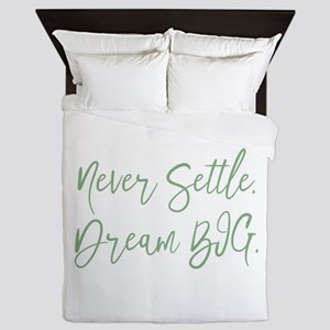 Never Settle Queen Duvet