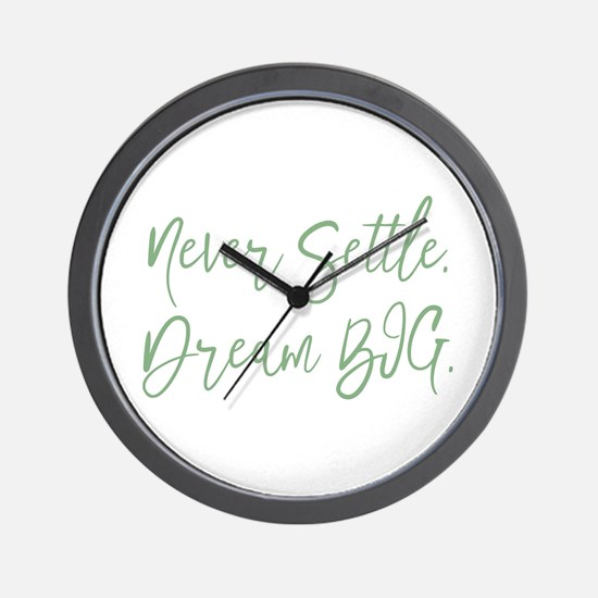 Never Settle Wall Clock
