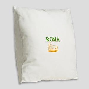 Roma Burlap Throw Pillow