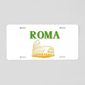 Roma Aluminum License Plate