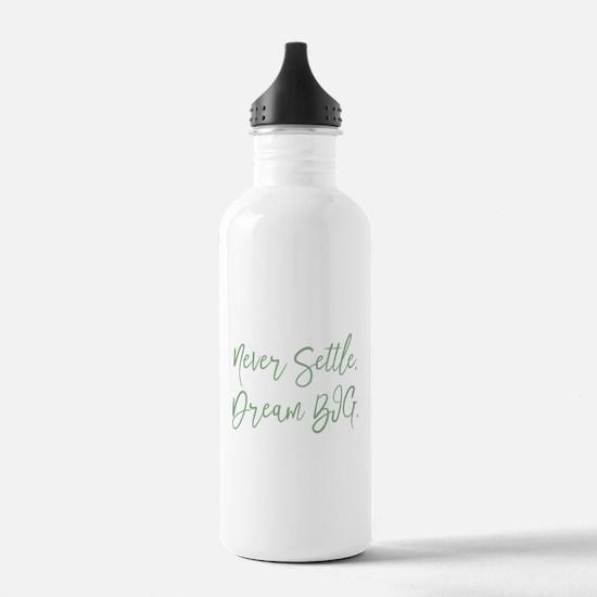 Never Settle Water Bottle