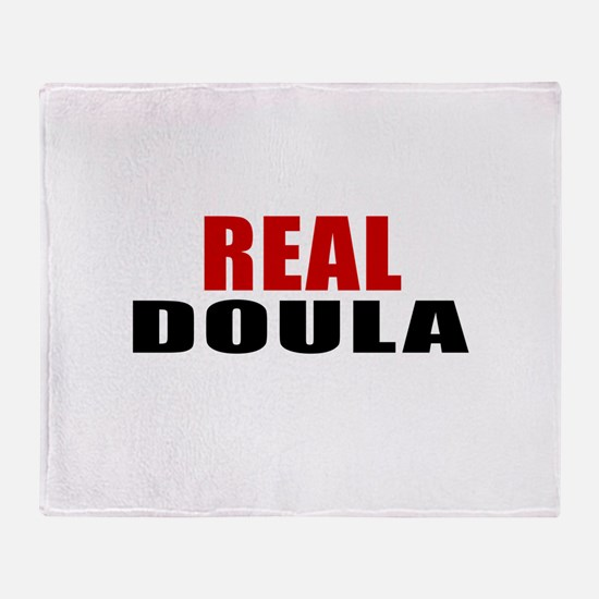 Real Doula Throw Blanket