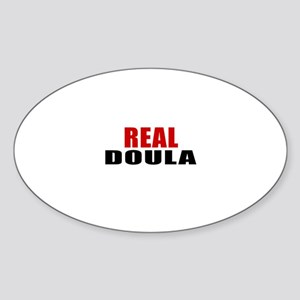 Real Doula Sticker (Oval)