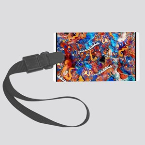 Colorful Musical Instruments Art Print Luggage Tag