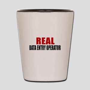 Real Data entry operator Shot Glass