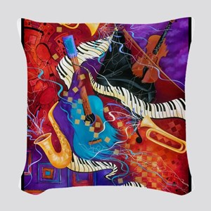 Colorful Musical Instruments Jazz Piano Art Woven