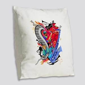 Jazz Musicians Piano Colorful Art Print Burlap Thr