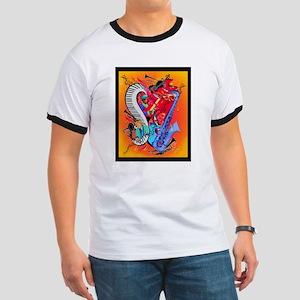 Jazz Music Guitar Piano I Love Jazz T-Shirt