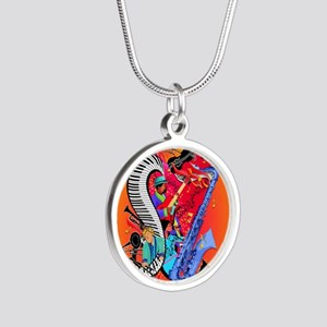 Jazz Music Guitar Piano I Love Jazz Necklaces