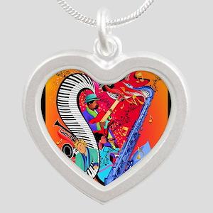 Jazz Music Guitar Piano I Love Jazz Necklaces