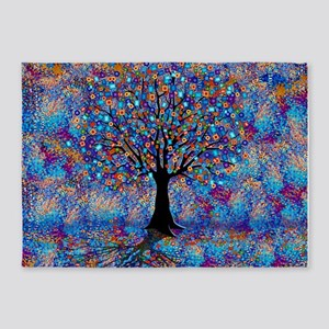 Colorful Tree of Life 5'x7'Area Rug