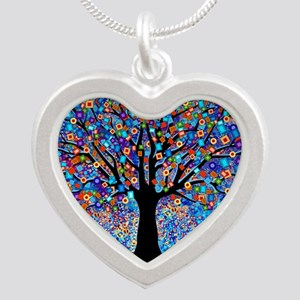 Colorful Tree of Life Art Print Necklaces
