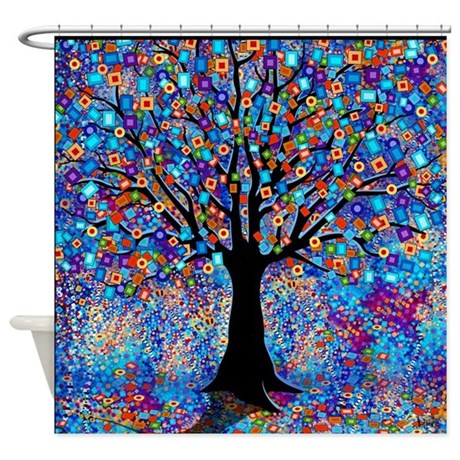 Colorful Tree Of Life Art Print Shower Curtain