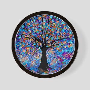 Colorful Tree of Life Art Print Wall Clock