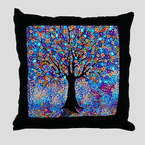 Colorful Tree of Life Art Print Throw Pillow