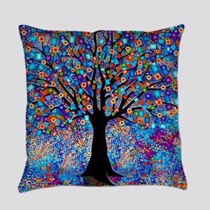 Colorful Tree of Life Art Print Everyday Pillow