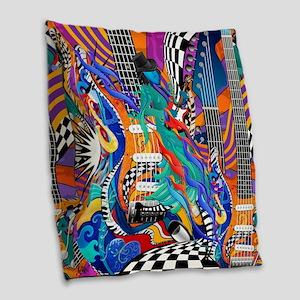Rock Band Electric Guitar Colorful Music Print Bur