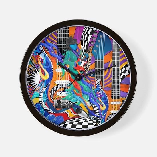 Rock Band Electric Guitar Colorful Music Print Wal