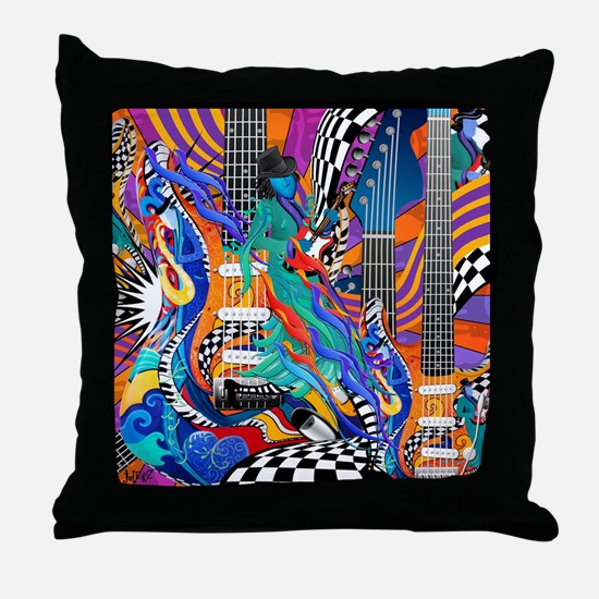 Rock Band Electric Guitar Colorful Music Print Thr