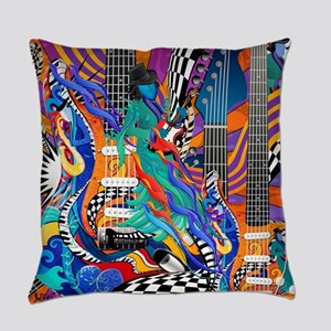 Rock Band Electric Guitar Colorful Music Print Eve