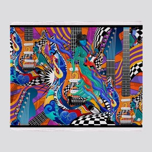 Music Electric Guitar Throw Blanket