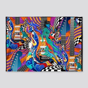 Music Electric Guitar 5'x7'Area Rug