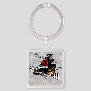 Piano Music Notes Art Print Keychains