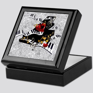 Piano Music Notes Art Print Keepsake Box